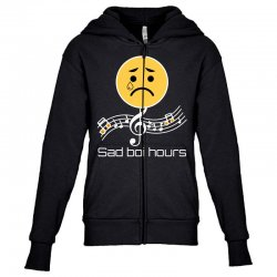 sad boi hours emoji Youth Zipper Hoodie | Artistshot