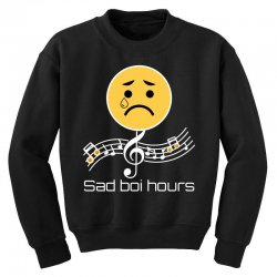 sad boi hours emoji Youth Sweatshirt | Artistshot