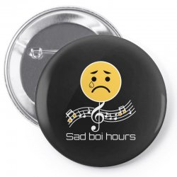 sad boi hours emoji Pin-back button | Artistshot