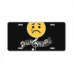 sad boi hours emoji License Plate | Artistshot