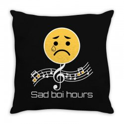 sad boi hours emoji Throw Pillow | Artistshot