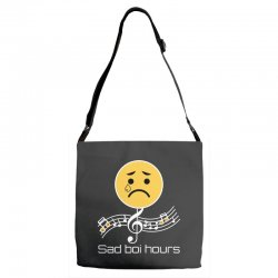 sad boi hours emoji Adjustable Strap Totes | Artistshot