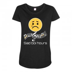 sad boi hours emoji Maternity Scoop Neck T-shirt | Artistshot