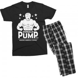 donald pump making america strong (donald trump) Men's T-shirt Pajama Set | Artistshot