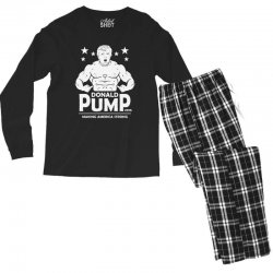 donald pump making america strong (donald trump) Men's Long Sleeve Pajama Set | Artistshot