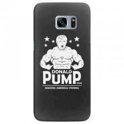 donald pump making america strong (donald trump) Samsung Galaxy S7 Edge Case | Artistshot