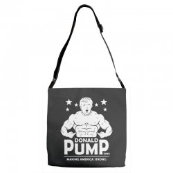 donald pump making america strong (donald trump)   copy Adjustable Strap Totes | Artistshot