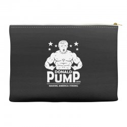 donald pump making america strong (donald trump)   copy Accessory Pouches | Artistshot