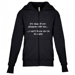 funny quote Youth Zipper Hoodie | Artistshot
