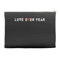 love over fear Accessory Pouches | Artistshot
