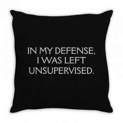 funny excuse quote Throw Pillow | Artistshot