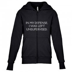funny excuse quote Youth Zipper Hoodie | Artistshot
