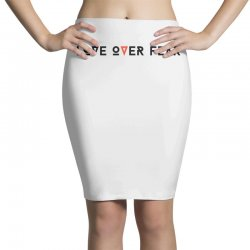 love over fear Pencil Skirts | Artistshot