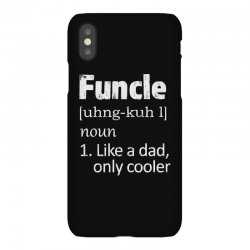 funcle definition funny uncle saying mens iPhoneX Case | Artistshot