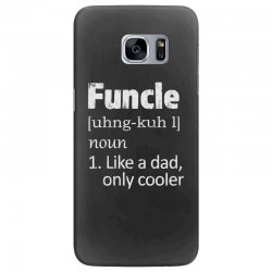 funcle definition funny uncle saying mens Samsung Galaxy S7 Edge Case | Artistshot