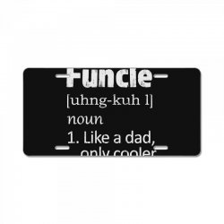 funcle definition funny uncle saying mens License Plate | Artistshot