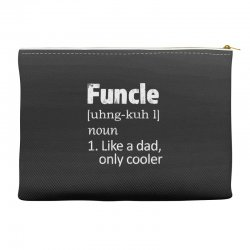 funcle definition funny uncle saying mens Accessory Pouches | Artistshot