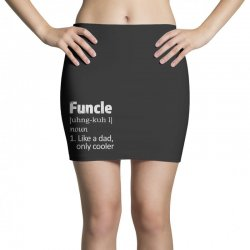 funcle definition funny uncle saying mens Mini Skirts | Artistshot
