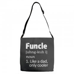 funcle definition funny uncle saying mens Adjustable Strap Totes | Artistshot