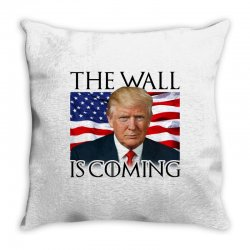 the wall is coming Throw Pillow | Artistshot