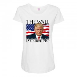 the wall is coming Maternity Scoop Neck T-shirt | Artistshot
