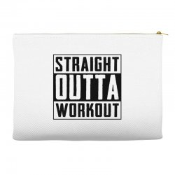 straight outta workout Accessory Pouches | Artistshot