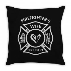 firefighters wife Throw Pillow | Artistshot