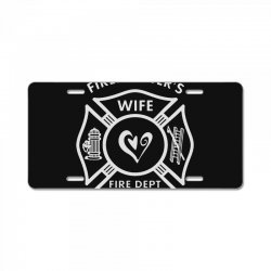 firefighters wife License Plate | Artistshot