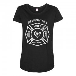 firefighters wife Maternity Scoop Neck T-shirt | Artistshot