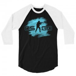 cs go watercolor 3/4 Sleeve Shirt | Artistshot