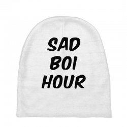 sad boi hour text only Baby Beanies | Artistshot