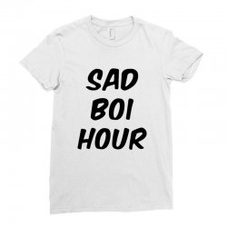 sad boi hour text only Ladies Fitted T-Shirt | Artistshot