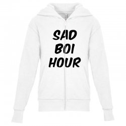 sad boi hour text only Youth Zipper Hoodie | Artistshot