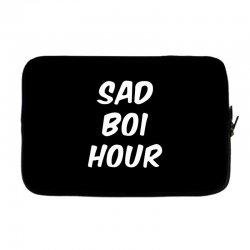sad boi hour text only Laptop sleeve | Artistshot