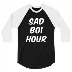 sad boi hour text only 3/4 Sleeve Shirt | Artistshot