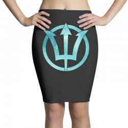 poseidon watercolor Pencil Skirts | Artistshot