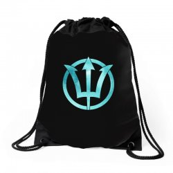poseidon watercolor Drawstring Bags | Artistshot