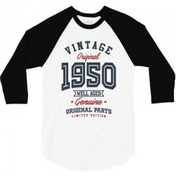 Gift for Born in 1950 3/4 Sleeve Shirt | Artistshot