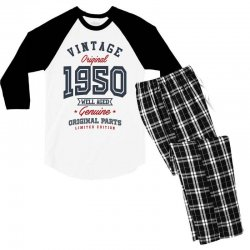 Gift for Born in 1950 Men's 3/4 Sleeve Pajama Set | Artistshot
