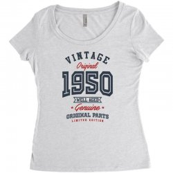 Gift for Born in 1950 Women's Triblend Scoop T-shirt | Artistshot