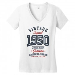 Gift for Born in 1950 Women's V-Neck T-Shirt | Artistshot
