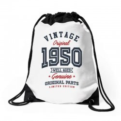 Gift for Born in 1950 Drawstring Bags | Artistshot