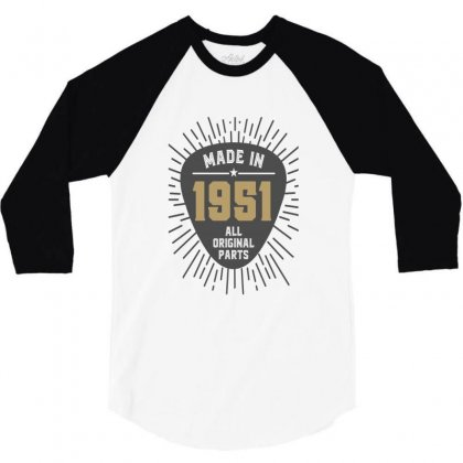 Gift For Made In 1951 3/4 Sleeve Shirt Designed By Chris Ceconello