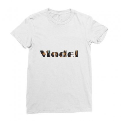 Model Lady Ladies Fitted T-shirt Designed By Fahimcool