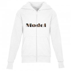 model lady Youth Zipper Hoodie | Artistshot