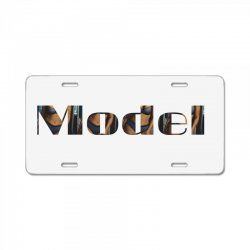model lady License Plate | Artistshot