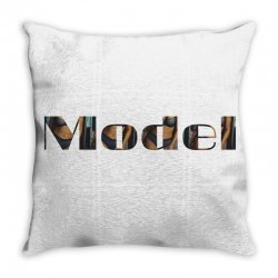 model lady Throw Pillow | Artistshot
