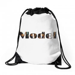 model lady Drawstring Bags | Artistshot