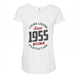 Since 1955 Aged To Perfection Maternity Scoop Neck T-shirt | Artistshot