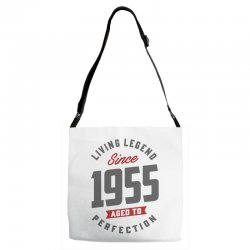 Since 1955 Aged To Perfection Adjustable Strap Totes | Artistshot